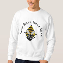 Cute Little Bee Embroidery Pattern Embroidered Sweatshirt