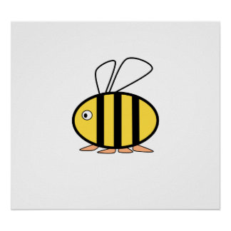 Cute little bee posters