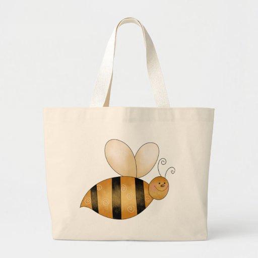 Cute Little Bee Tote Bags