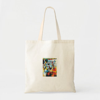 Cute little bicycle tote bag
