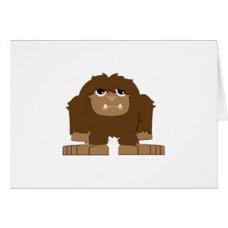 Cute little Bigfoot Card