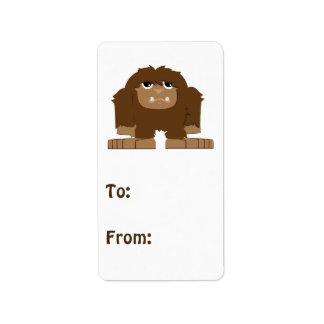 Cute little Bigfoot Label