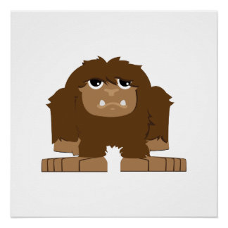 Cute little Bigfoot Poster