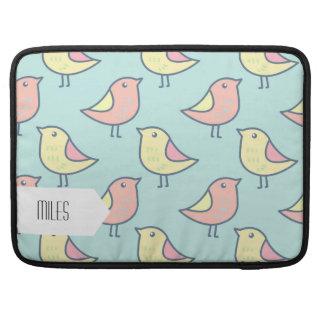 Cute Little Birds Seamless Pattern Sleeves For MacBook Pro