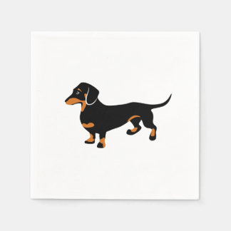 Cute Little Black and Tan Dachshund - Doxie Dog Paper Napkin