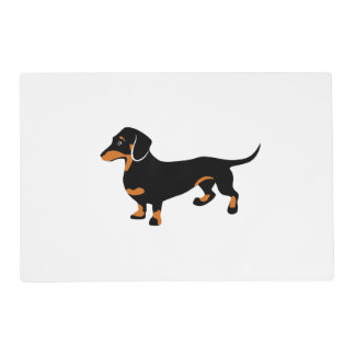 Cute Little Black and Tan Dachshund - Doxie Dog Placemat