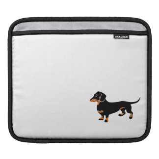 Cute Little Black and Tan Dachshund - Doxie Dog Sleeve For iPads