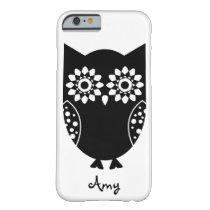 Cute Little Black Owl iPhone 6 case