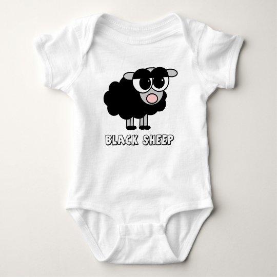 Cute Little Black Sheep Baby Bodysuit