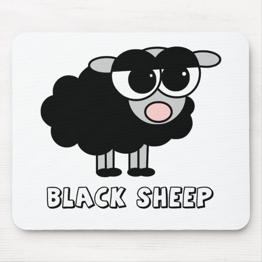 Cute Little Black Sheep Mouse Pad