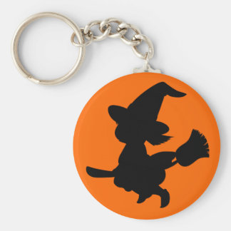 Cute Little Black Witch Keychain