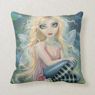 Cute Little Blonde Fairy Fantasy Art Pillow