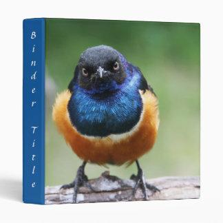 Cute Little Blue Bird Closeup Binder