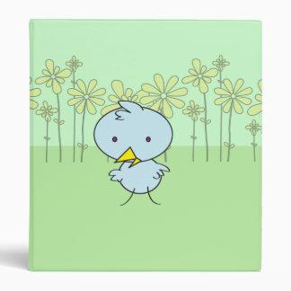 Cute Little Blue Birdie Binder