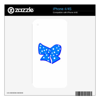 Cute Little Blue Bow iPhone 4S Decal