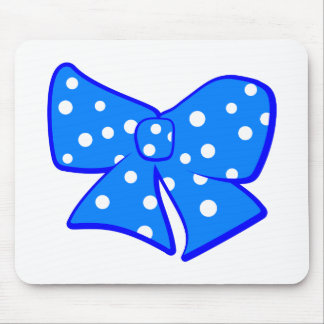 Cute Little Blue Bow Mouse Pad