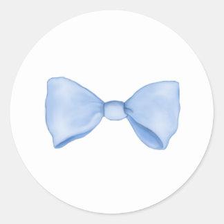 Cute Little Blue Bow Tie Classic Round Sticker