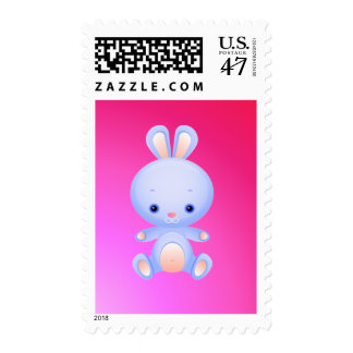 Cute Little Blue Bunny Postage