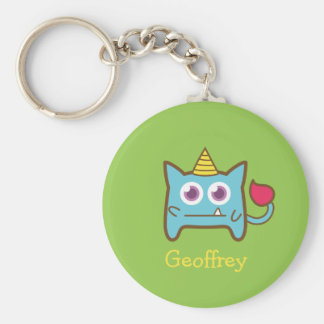 Cute Little Blue Monster with Horn for kids Keychain