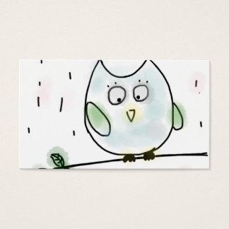 Cute Little Blue Owl Business Card