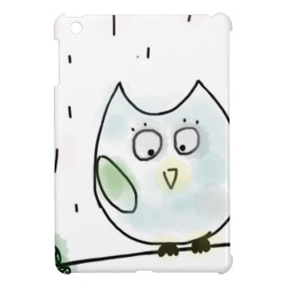Cute Little Blue Owl Case For The iPad Mini