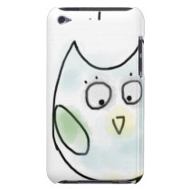 Cute Little Blue Owl iPod Touch Cover