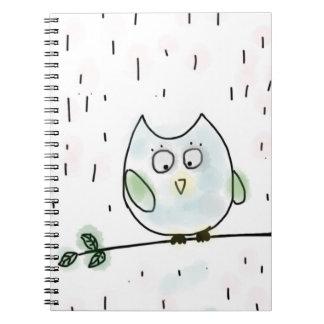 Cute Little Blue Owl Notebook