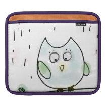 Cute Little Blue Owl Sleeve For iPads