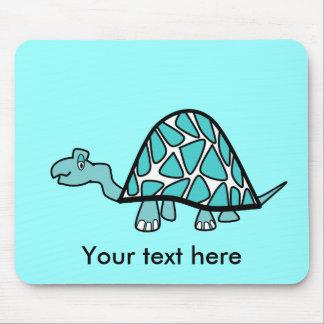 Cute little blue turtle mouse pad