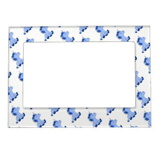 Cute Little Blue Unicorns Magnetic Photo Frame
