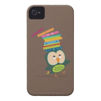 Cute little book owl Case-Mate iPhone 4 cases