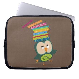 Cute little book owl laptop sleeve