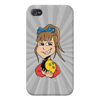 cute little bowling girl kid graphic iPhone 4 cover