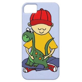 Cute Little Boy Hugging his Brontosaurus iPhone SE/5/5s Case