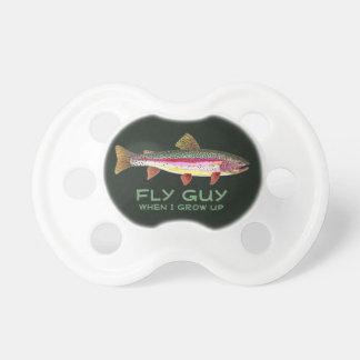 Cute Little Boy's FLY GUY Trout Fishing Pacifier