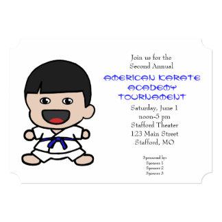 Cute Little Boys Karate Tournament Invitation