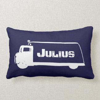Cute Little Boy's Truck and Tractor Lumbar Pillow