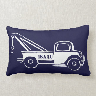 Cute Little Boy's Wrecker Truck and Train Lumbar Pillow