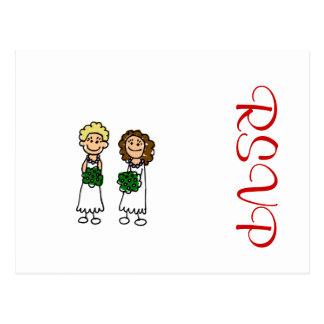 Cute Little Bride Lesbians Postcard