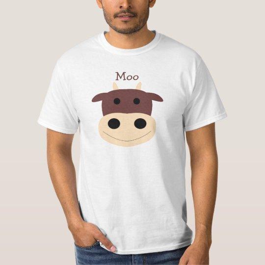 Cute little brown cow mens tshirt