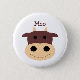 Cute little brown cow pin