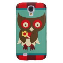 Cute Little Bug Eyed Owl Whimsical Bird Design Samsung Galaxy S4 Cover