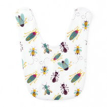 cute little bugs insects baby bib