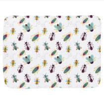 cute little bugs insects baby blanket