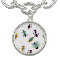 cute little bugs insects bracelet