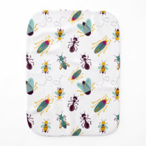 cute little bugs insects burp cloth