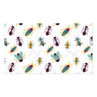 cute little bugs insects business card