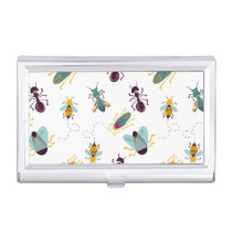 cute little bugs insects business card holder