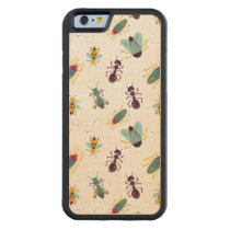 cute little bugs insects carved maple iPhone 6 bumper case