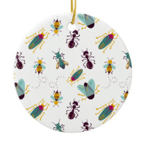 cute little bugs insects ceramic ornament